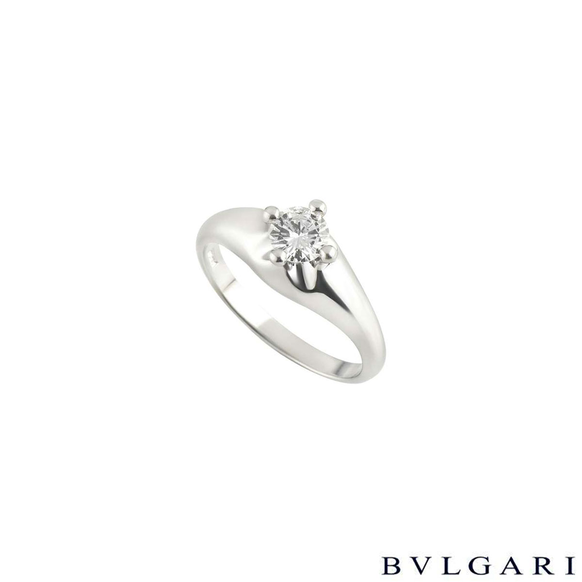 Bvlgari Corona Diamond Platinum Ring